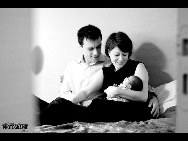 séance photo bébé a domicile en famille