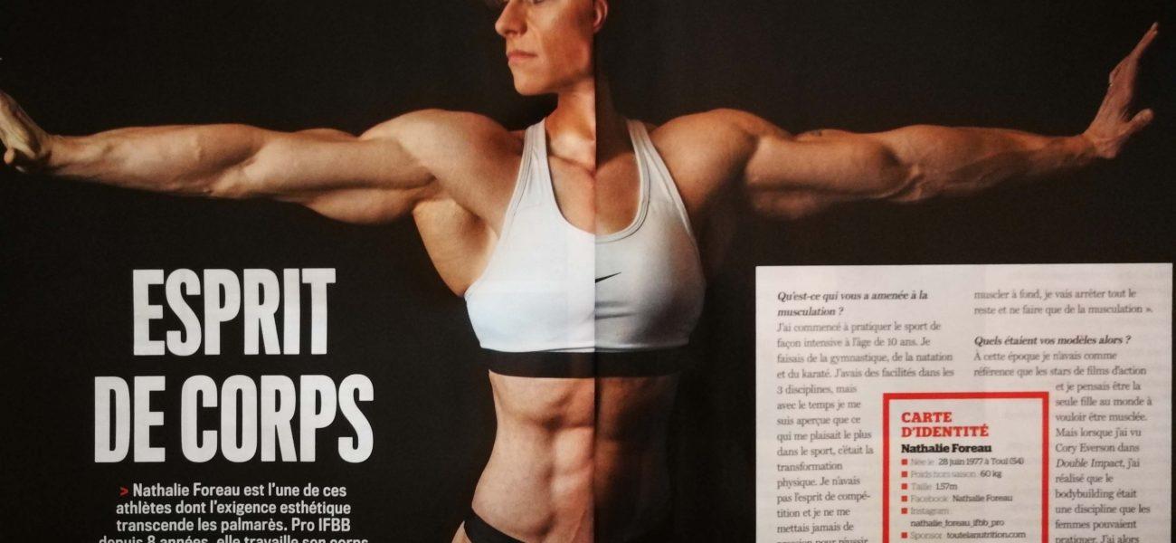 Nouvelle publication dans le nouveau muscle et fitness du mois de mars avec Nathalie Foreauhalie Foreau